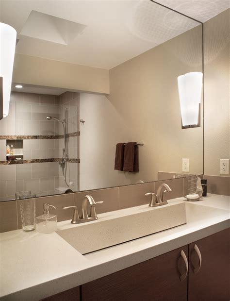 bathroom mirror ideas for single sink 60 vanity single sink bathroom modern with bath