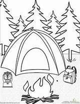 Camping Coloring Easter Tarp Tents Parties Theme Crafts sketch template