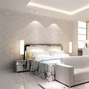 High end 10M Luxury Non Woven Flocking Embossed Textured ...