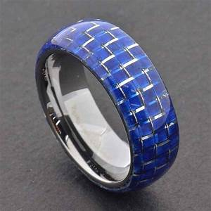 15 best ideas of men39s black and blue wedding bands With mens blue wedding rings