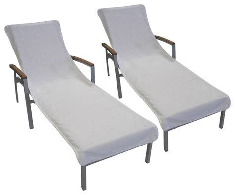 white terry cloth chaise cover traditional outdoor