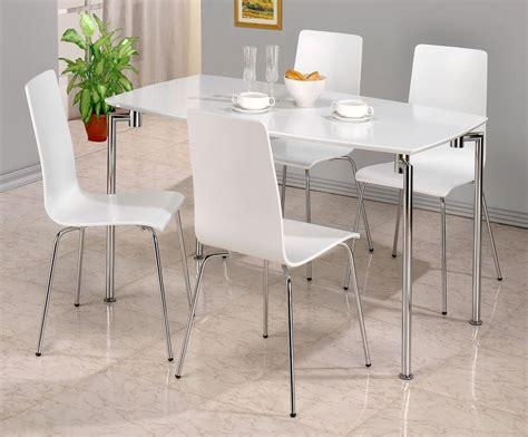 high gloss finish dining table and chair set 4 chairs