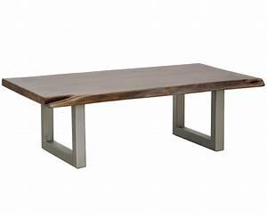 montana solid wood metal leg coffee table zin home With wood top coffee table metal legs