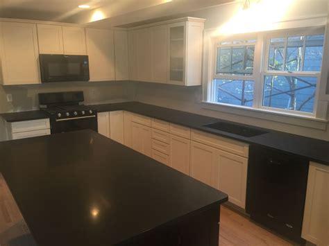 absolute black honed granite countertops  kitchen
