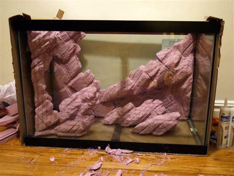 diy styrofoam background rocks monsterfishkeeperscom