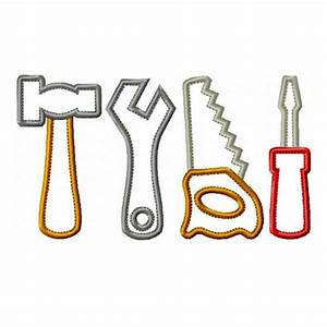 Toy Tool Set Appliques Machine Embroidery Design Patterns