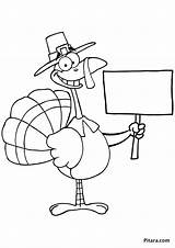 Turkey Colouring Coloring Pages Hitchhiker Pitara Craft sketch template