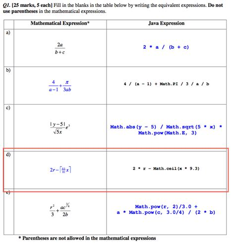 java math ceil int java arithmetic expression stack overflow