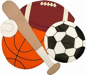 Sports Collage Fabric Wall Art