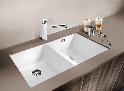 Silgranit Double Bowl Undermount Sink White  Cooks Plumbing