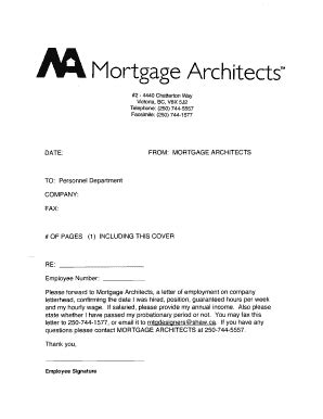 fillable  view  sample job letter mortgage