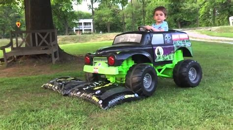 wheels grave digger monster truck grave digger power wheels monster truck action 12 volt