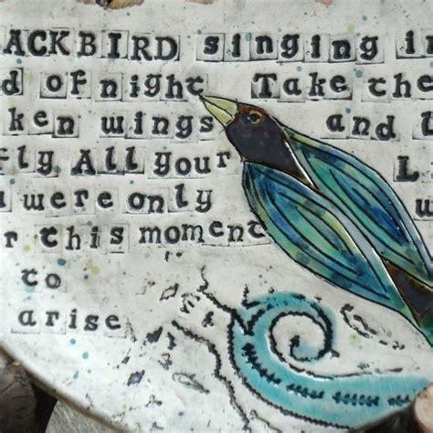 blackbird wall plate  beatles lyrics custom