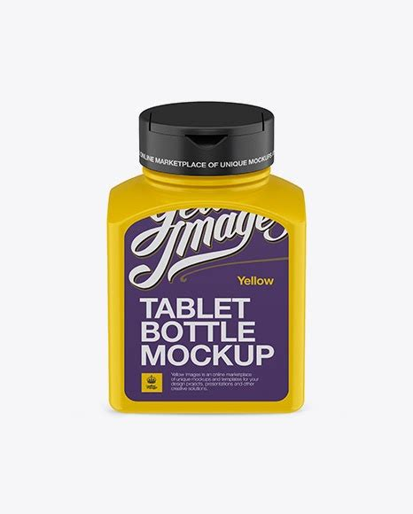 All free mockups include smart objects for easy edit. Plastic Pills Bottle Mockup - Front View (High-Angle Shot ...