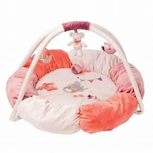 nattou tapis d39eveil rembourre adele valentine made in With tapis bébé avec canapé avec pouf amovible