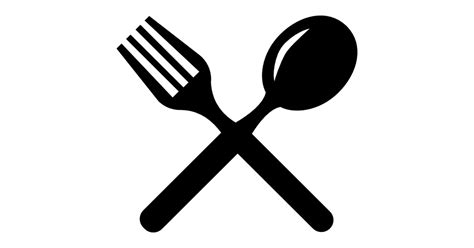 Cutlery Cross Couple Of Fork And Spoon