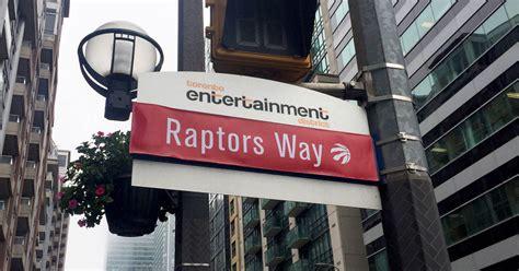blue jays  street sign   renamed  raptors
