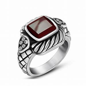 aliexpresscom buy fashion new stainless steel mens With red wedding rings for men