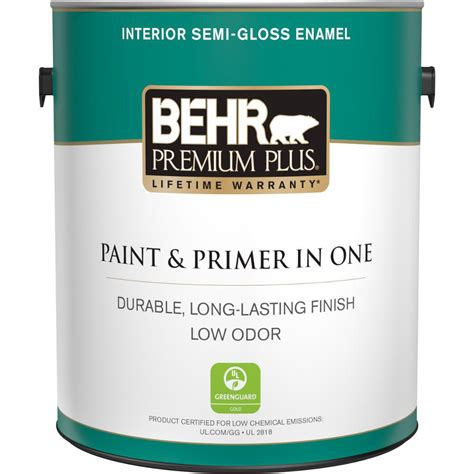 behr premium plus 1 gal ultra white semi gloss
