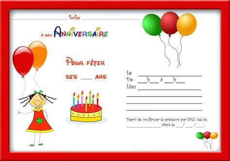 Carte Invitation Anniversaire Fille 6 Ans Gratuite
