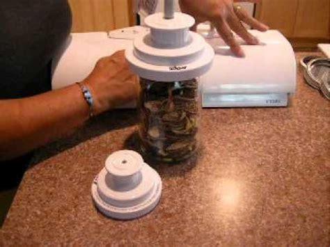 foodsaver sealing mason jars youtube