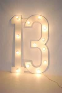 Large Number 13 (with bulbs) Theme Prop Hire
