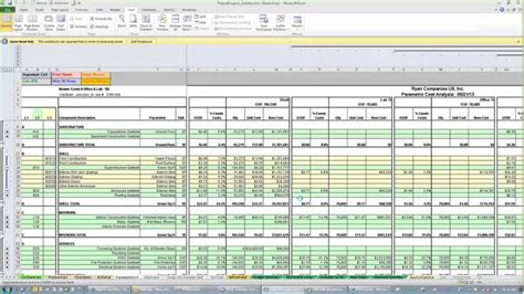 construction project cost analysis template construction estimating spreadsheets spreadsheets