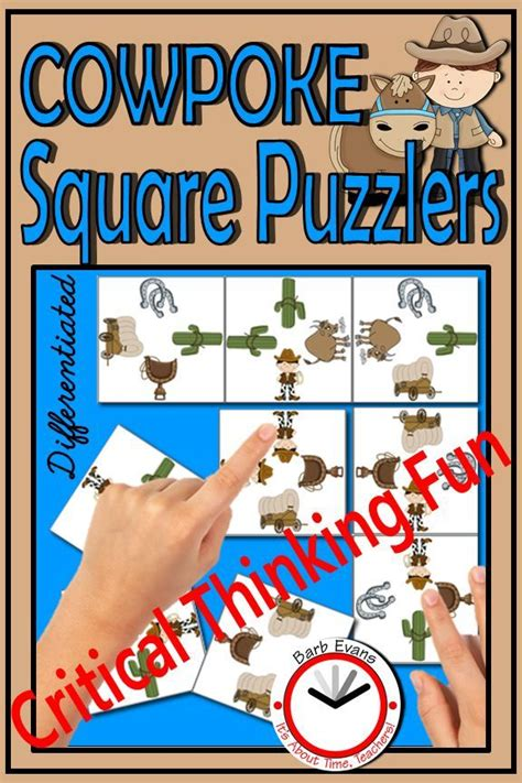 critical thinking puzzles cowboys activity brain teasers