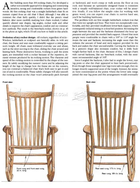 build rocking chair woodarchivist