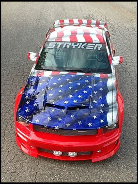 custom  stryker ford mustang auctioned  charity