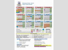 School Calendar MNS Bahrain Multinational School Bahrain