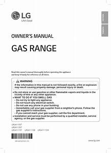 Lg Lrg4115st User Manual Gas Range Manuals And Guides 1508366l