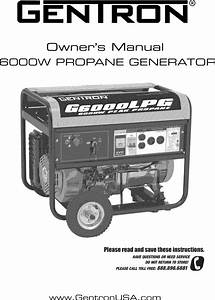 Gentron Gg6000p User Manual Generator Manuals And Guides