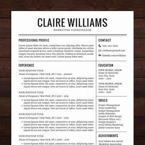Resume cv template free cover letter instant download for Classy resume templates