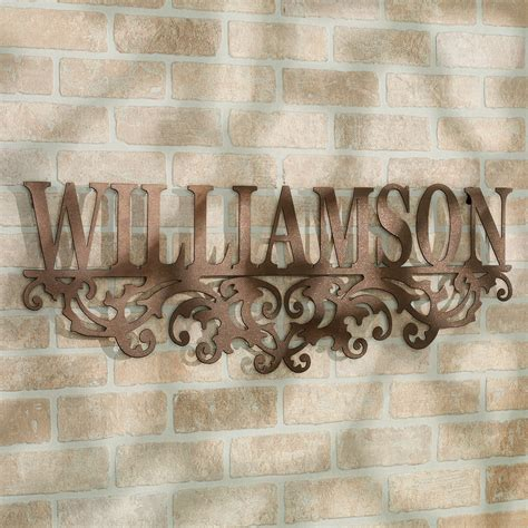 kinship bronze family  personalized metal wall art sign