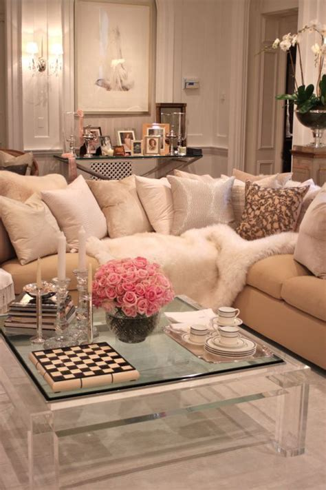Class Family Home With Blue Pink And Gold Decor by 378 Best Images About Glamorous Living Rooms On