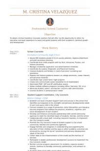 resume for middle school counselor school counselor resume sles visualcv resume sles database