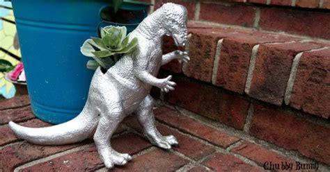 awesome dinosaur planter hometalk