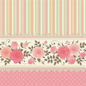 Pink rose pattern background vector material 05 - Vector ...