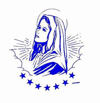 Mary Virgin Blessed Clipart Clip Holy Rosary