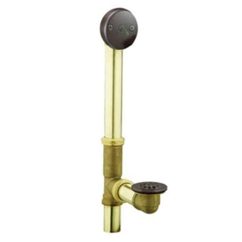 moen brass trip lever tub drain assembly in oil rubbed