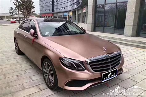 carlike cl em  electro metallic rose gold car wrap vinyl