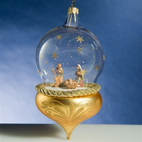 holy family dome and gold glass ornament from http www