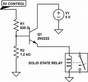 resistance reducing voltage for solid state relay With the transistor lat