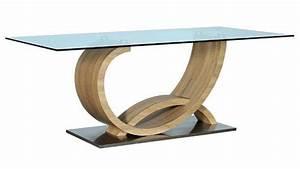Table Basse Verre Bois : table basse plateau verre pied bois id es de d coration int rieure french decor ~ Teatrodelosmanantiales.com Idées de Décoration