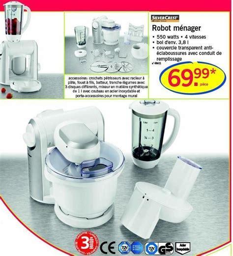 mixeur cuisine lidl promotion ménager silvercrest de