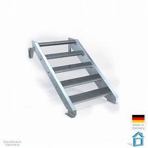 Treppe 3 Stufen Aussen : stahl au entreppe 5 stufen 80 cm laufweite steinhaus treppen treppen g nstig kaufen ~ Frokenaadalensverden.com Haus und Dekorationen