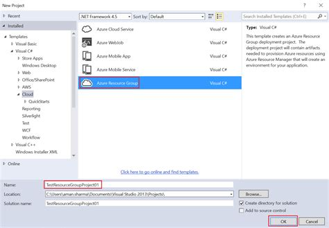visual studio templates step by step arm templates authoring arm templates using visual studio harvesting clouds