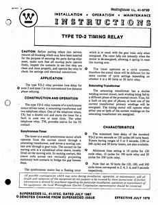 I L  41-573d Type Td-2 Timing Relay Manual