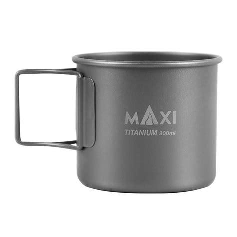 New ember temperature control smart mug 2, 14 oz, white, 80 min. MAXI Titanium Coffee Mug   Camping cups, Camping water, Mugs